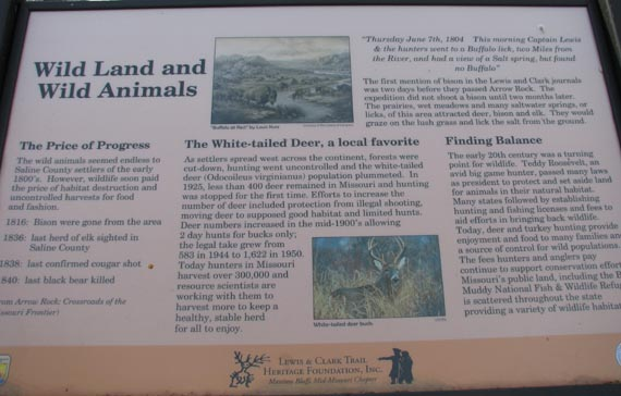 Arrow Rock trail sign