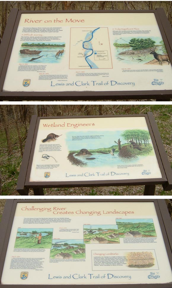 interpretive signs in Arrow Rock